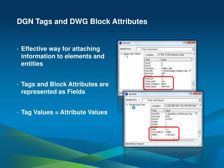 DGN Tags and DWG Block Attributes