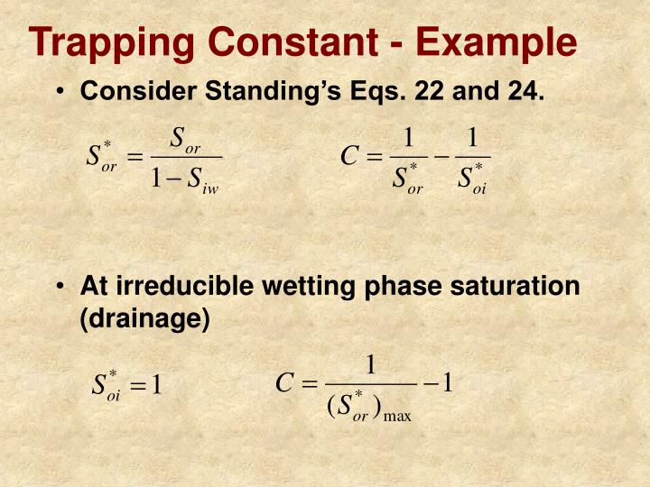 Trapping Constant - Example