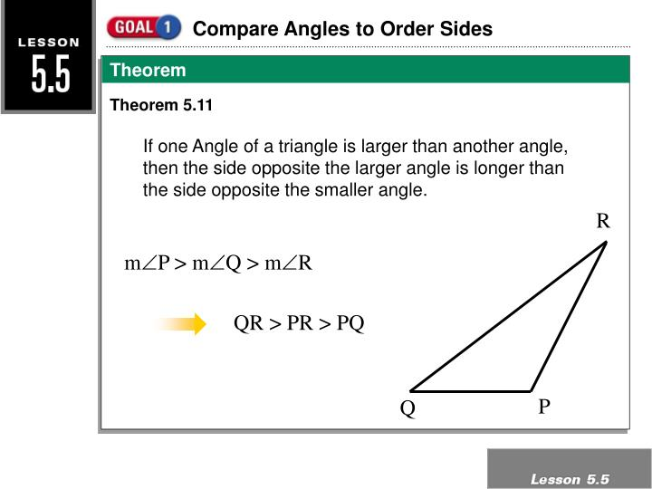 Compare Angles to Order Sides