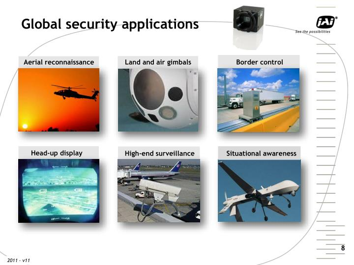 Global security applications