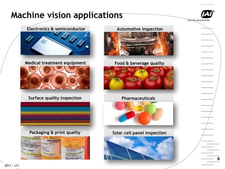 Machine vision applications