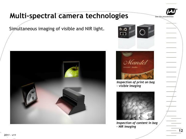 Multi-spectral camera technologies