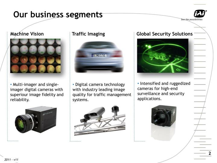 Our business segments