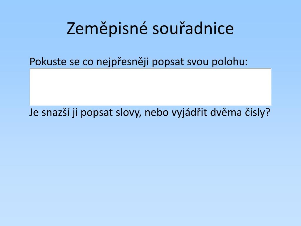 Ppt Zemepisne Souradnice Powerpoint Presentation Free Download