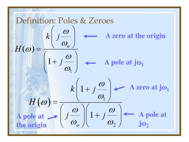Definition: Poles & Zeroes