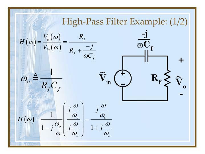 High-Pass Filter Example: (1/2)