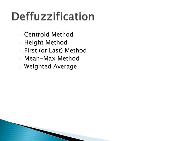 Deffuzzification