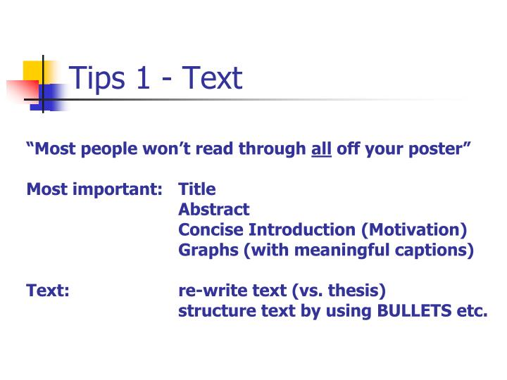 Tips 1 - Text
