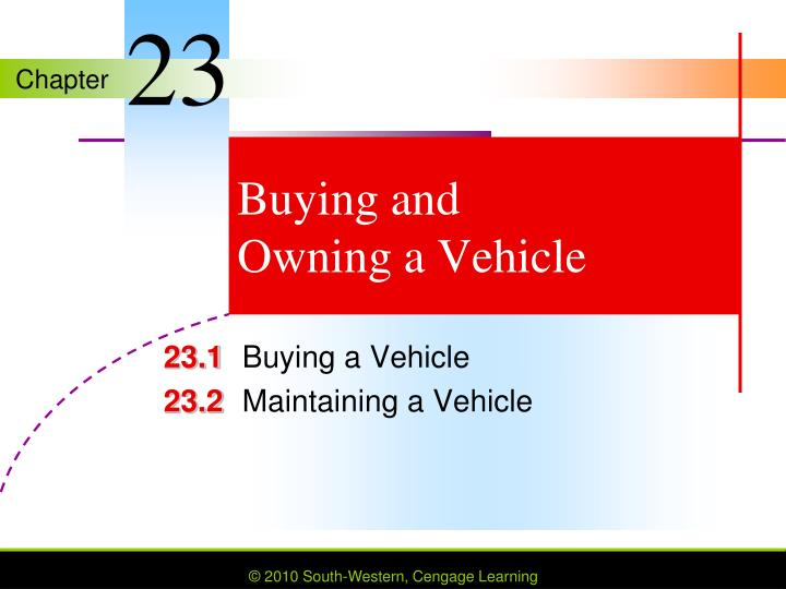 buying and owning a vehicle n.