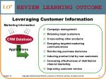 review learning outcome6