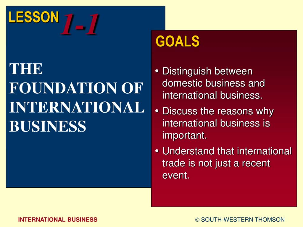 ppt the foundation of international business powerpoint
