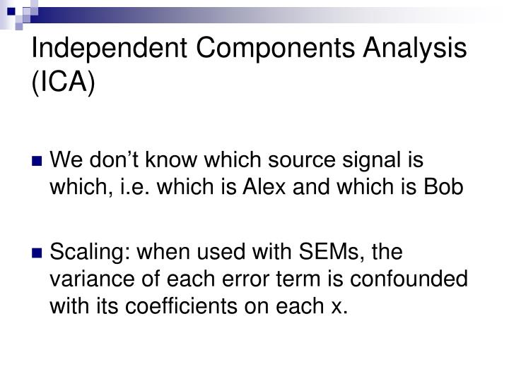 Independent Components Analysis (ICA)
