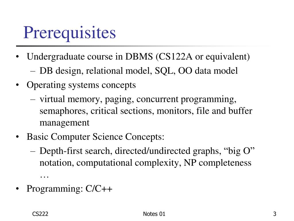 PPT - CS222: Principles of Database Management Fall 2010