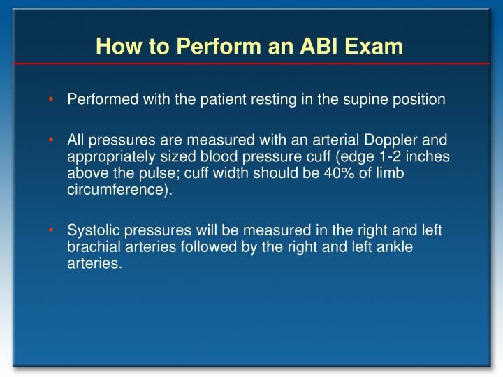 How to Perform an ABI Exam