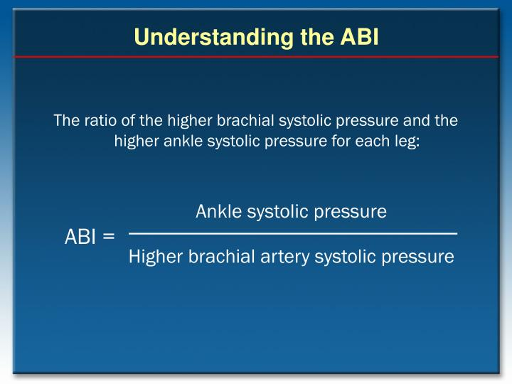 Ankle systolic pressure