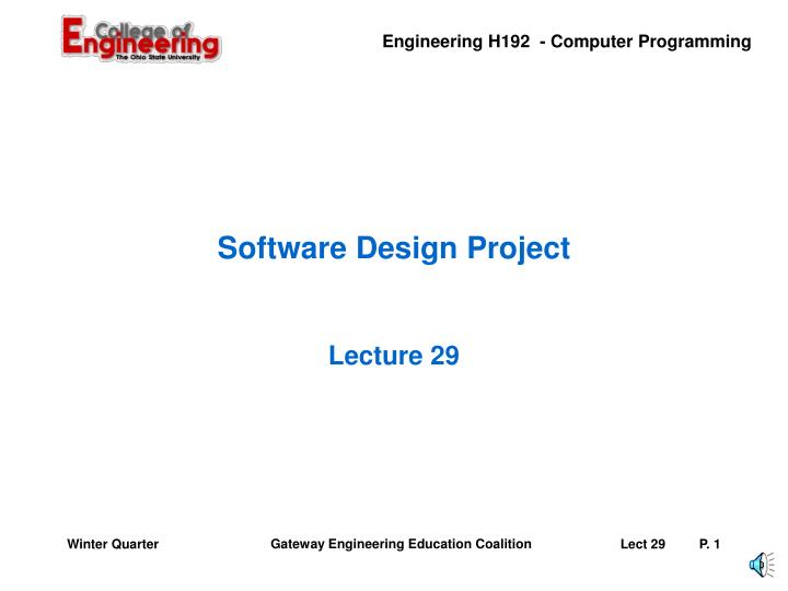 software design project n.