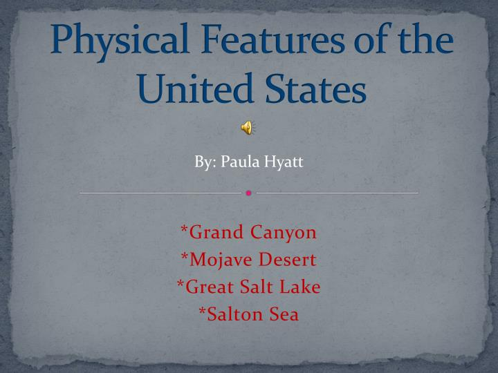 Physical features of the united states