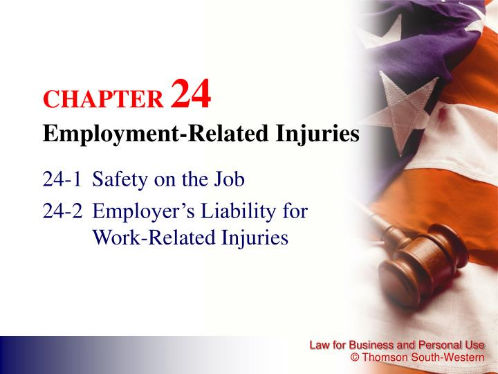 chapter 24 employment related injuries n.