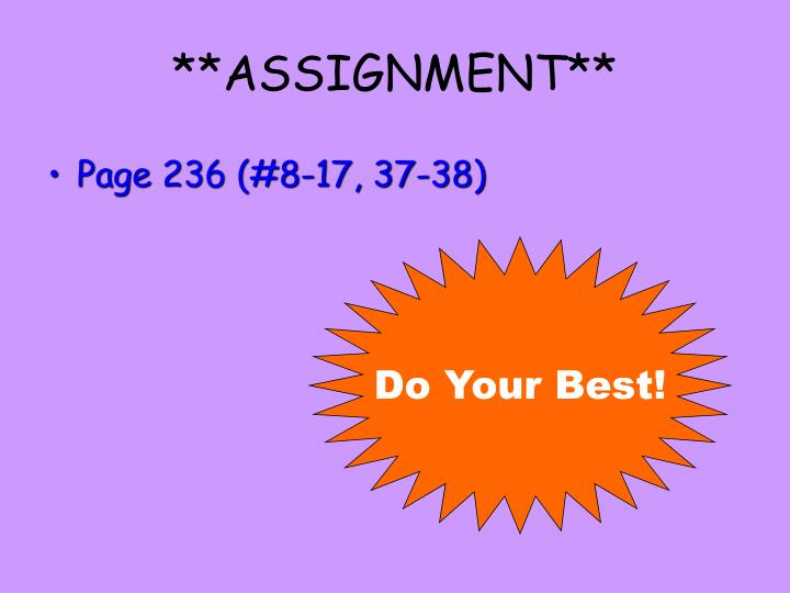 **ASSIGNMENT**