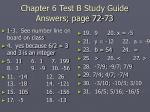 chapter 6 test b study guide answers page 72 73