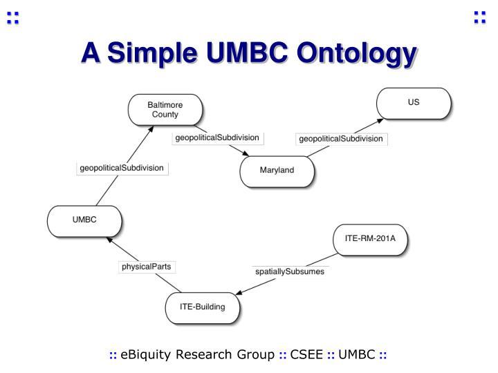 A Simple UMBC Ontology