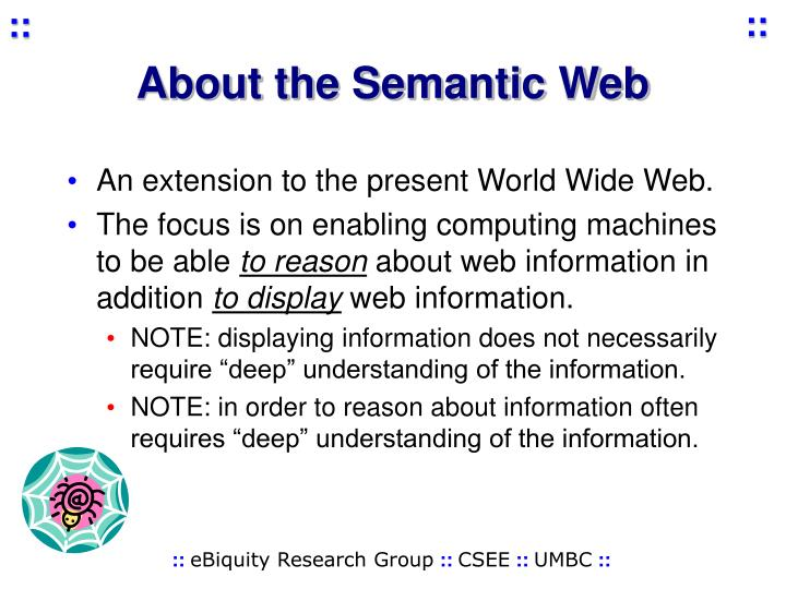 About the Semantic Web