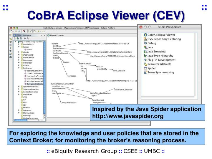 CoBrA Eclipse Viewer (CEV)