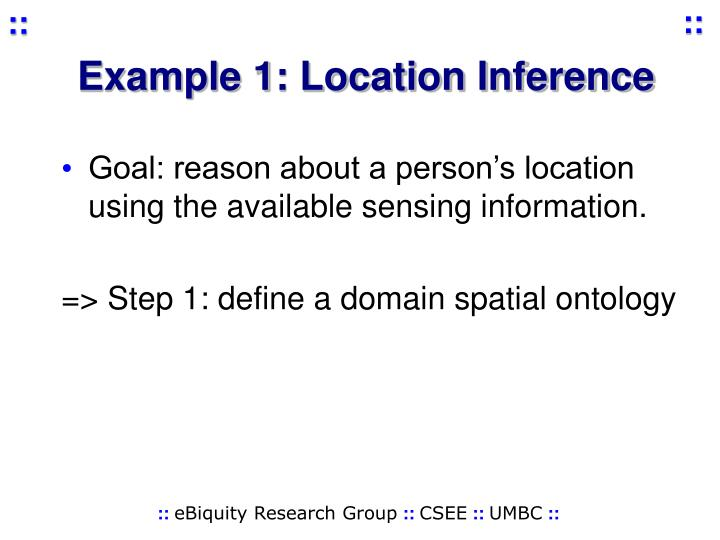 Example 1: Location Inference