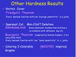 other hardness results