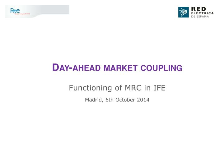 Day-ahead market coupling