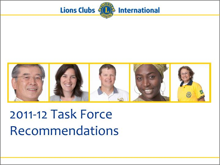 2011-12 Task Force Recommendations