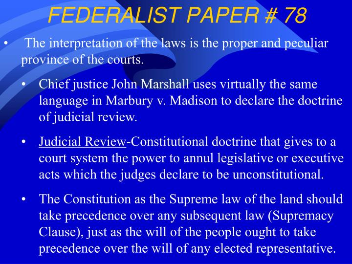 federalist paper 70 View federalist 70 questions from poli 150 at azusa pacific former, have wisdom and deliberation, and best conciliate the confidence of the people to secure their privileges and interests.