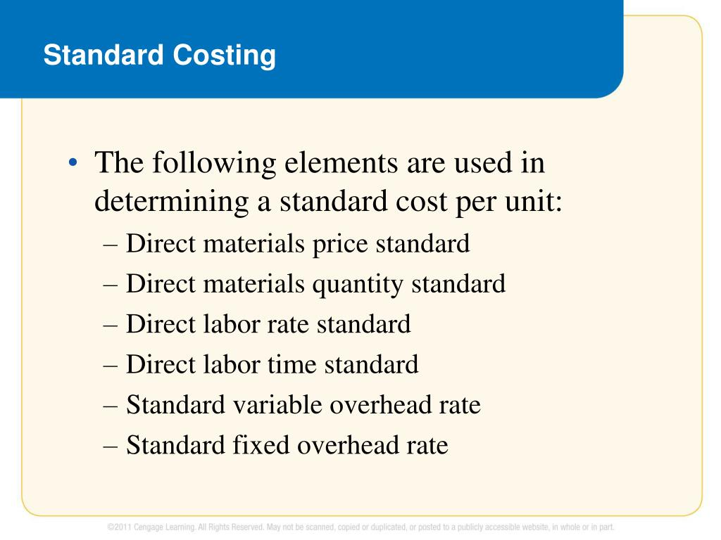 PPT - Standard Costing and Variance Analysis PowerPoint