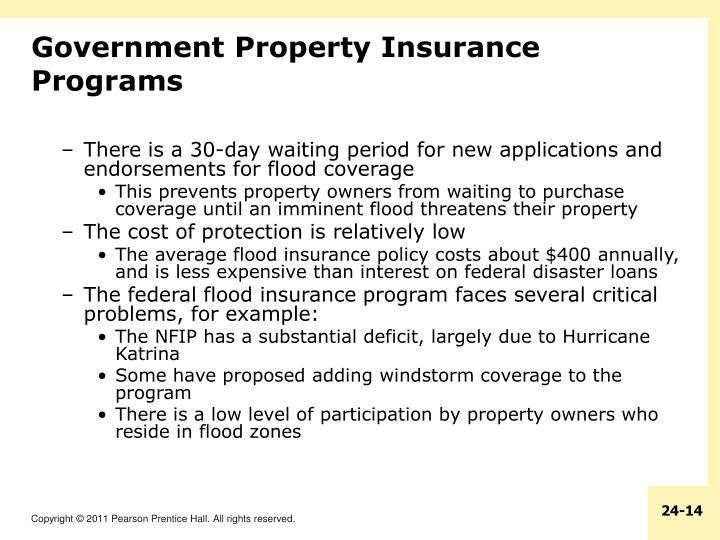 Government Property Insurance Programs