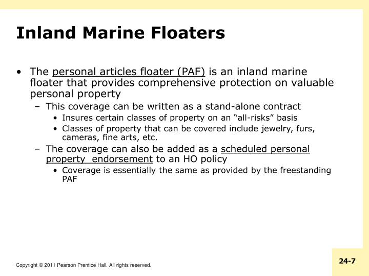 Inland Marine Floaters