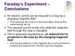 faraday s experiment conclusions