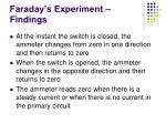 faraday s experiment findings