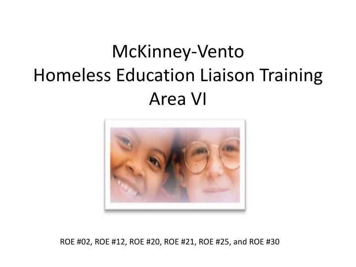 Mckinney vento homeless education liaison training area vi