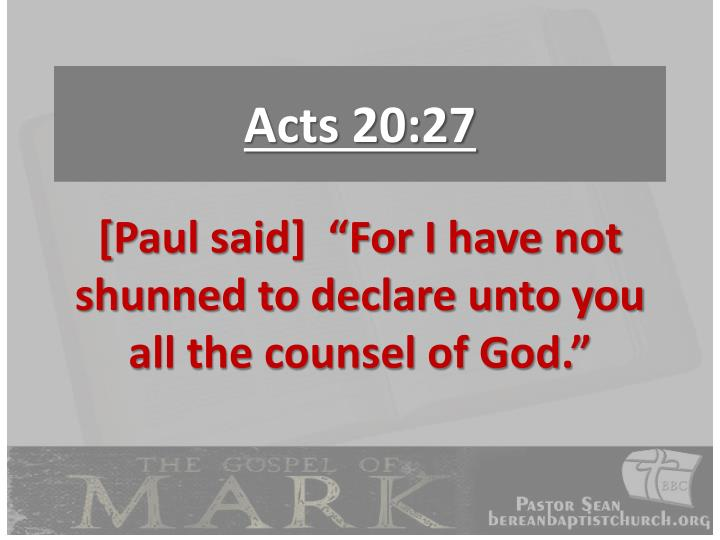 Acts 20:27