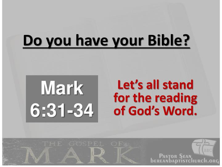 Do you have your bible
