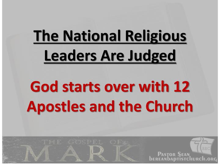 The National Religious Leaders Are Judged