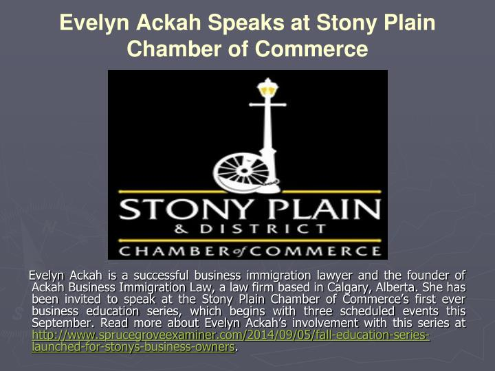 Evelyn Ackah Speaks at Stony Plain Chamber of Commerce