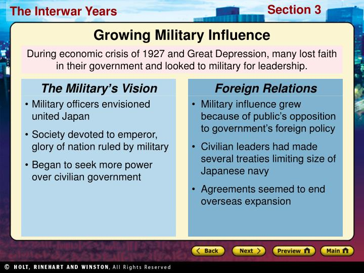 The Military's Vision
