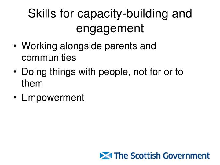 Skills for capacity-building and engagement