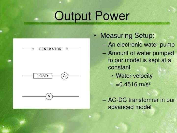 Output Power