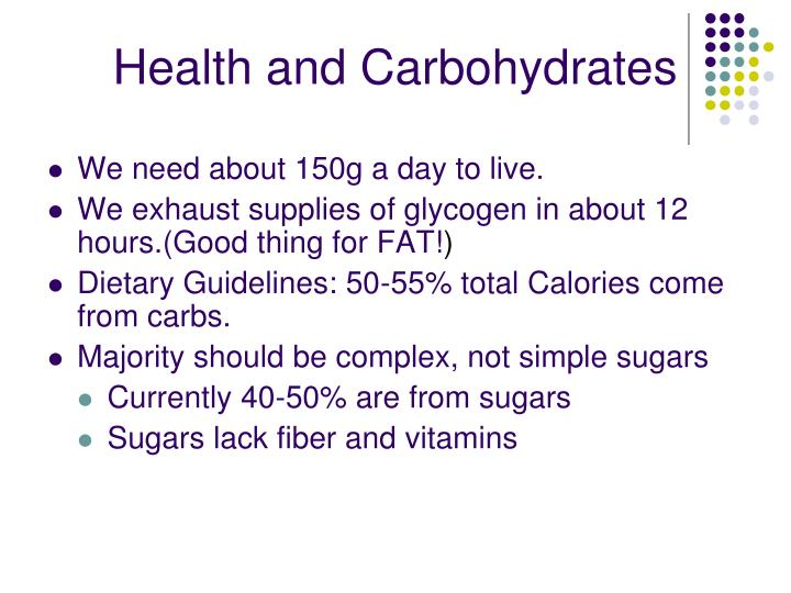 Health and Carbohydrates