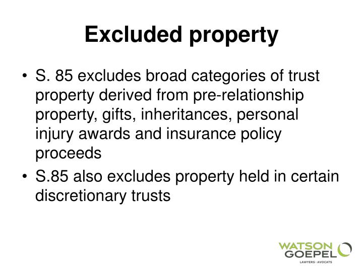 relationship property and trusts This final chapter asks: if the purpose of trusts is to extend the function of property, what then is the function of property in trusts the short and simple answer is that property enables trusts to exist in the first place no property, no trusts.