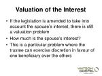 valuation of the interest3