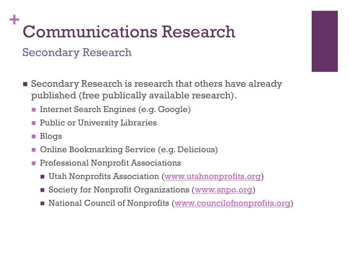 Communications Research