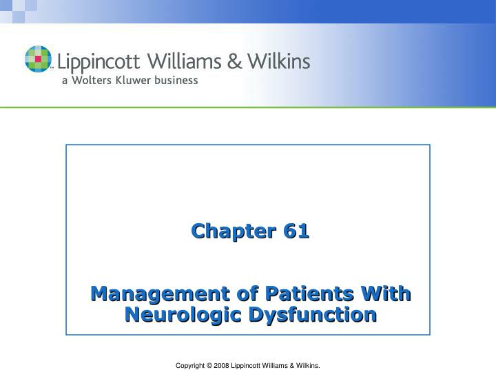 chapter 61 management of patients with neurologic dysfunction n.